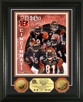 Cincinnati Bengals Team Force 24KT Gold Coin Photo Mint
