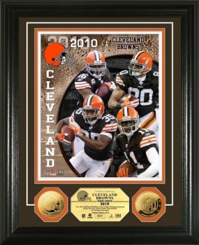 Cleveland Browns Team Force 24KT Gold Coin Photo Mint
