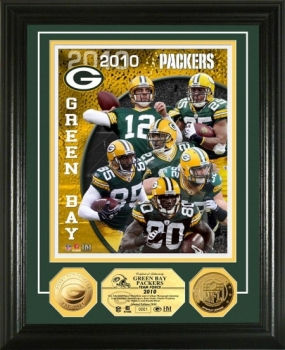 Green Bay Packers Team Force 24KT Gold Coin Photo Mint