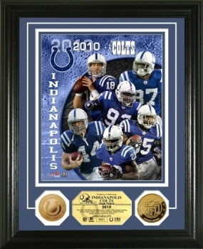 Indianapolis Colts Team Force 24KT Gold Coin Photo Mint