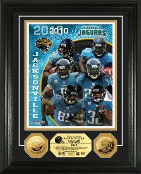 Jacksonville Jaguars Team Force 24KT Gold Coin Photo Mint