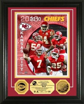 Kansas City Chiefs Team Force 24KT Gold Coin Photo Mint