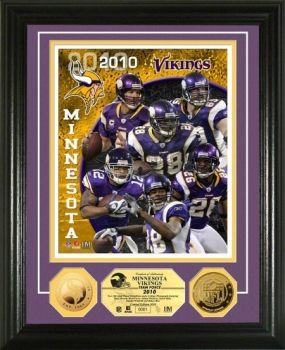 Minnesota Vikings Team Force 24KT Gold Coin Photo Mint