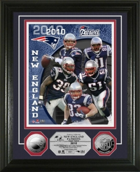 New England Patriots Team Force Silver Coin Photo Mint