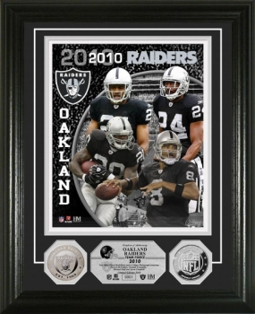 Oakland Raiders Team Force Silver Coin Photo Mint