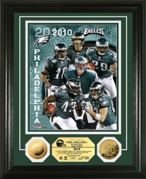 Philadelphia Eagles Team Force 24KT Gold Coin Photo Mint