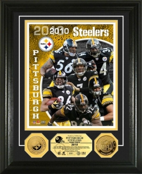 Pittsburgh Steelers Team Force 24KT Gold Coin Photo Mint