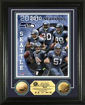 Seattle Seahawks Team Force 24KT Gold Coin Photo Mint