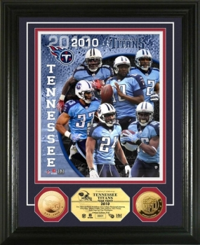Tennessee Titans Team Force 24KT Gold Coin Photo Mint