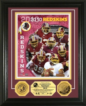 Washington Redskins Team Force 24KT Gold Coin Photo Mint