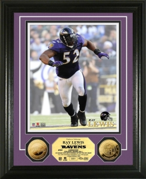 Ray Lewis 24KT Gold Coin Photo Mint
