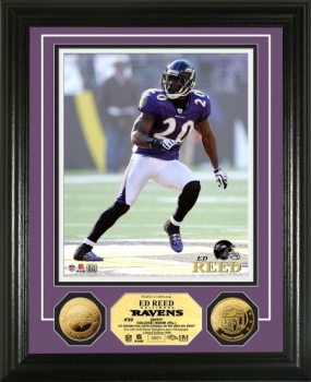 Ed Reed 24KT Gold Coin Photo Mint