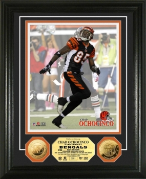Chad Ochocinco 24KT Gold Coin Photo Mint