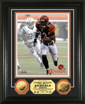 Cedric Benson 24KT Gold Coin Photo Mint