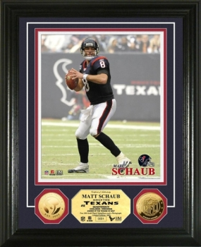 Matt Schaub 24KT Gold Coin Photo Mint