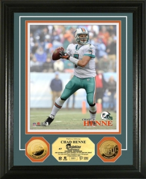 Chad Henne 24KT Gold Coin Photo Mint