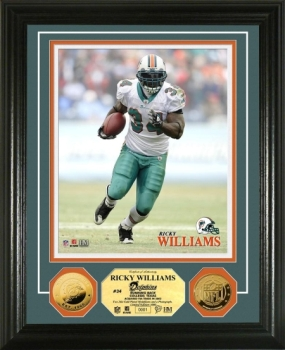 Ricky Williams 24KT Gold Coin Photo Mint