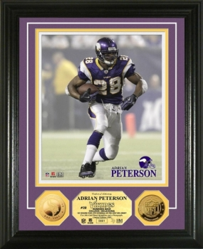 Adrian Peterson 24KT Gold Coin Photo Mint