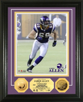 Jared Allen 24KT Gold Coin Photo Mint