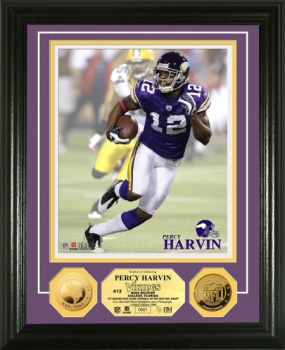 Percy Harvin 24KT Gold Coin Photo Mint
