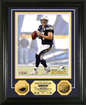 Philip Rivers 2010 24KT Gold Coin Photo Mint