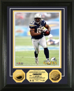 Antonio Gates 2010 24KT Gold Coin Photo Mint