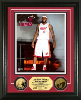 "LeBron James ""Heat"" 24KT Gold Coin Photo Mint"