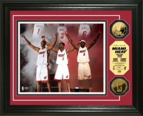 "Miami Heat ""Summer of 2010"" 24KT Gold Coin Photo Mint"