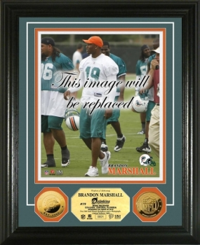 Brandon Marshall 24KT Gold Coin Photo Mint