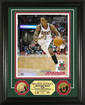 Brandon Jennings 24KT Gold Coin Photo Mint