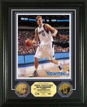 Dirk Nowitzki 24KT Gold Coin Photo Mint