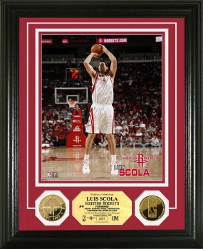 Luis Scola 24KT Gold Coin Photo Mint