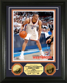 Russell Westbrook 24KT Gold Coin Photo Mint