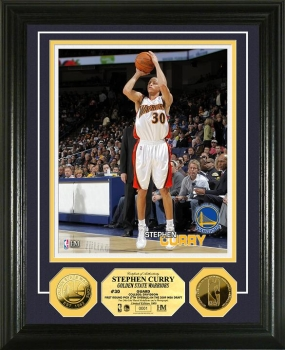 Stephen Curry 24KT Gold Coin Photo Mint