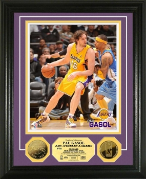Pau Gasol 24KT Gold Coin Photo Mint