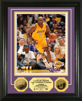 Lamar Odom 24KT Gold Coin Photo Mint