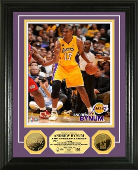 Andrew Bynum 24KT Gold Coin Photo Mint