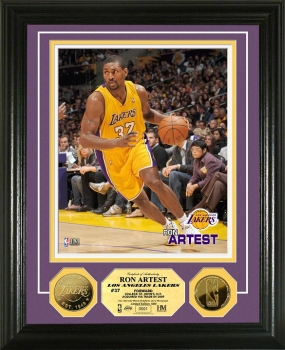 Ron Artest 24KT Gold Coin Photo Mint