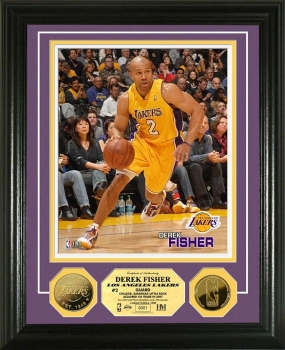 Derek Fisher 24KT Gold Coin Photo Mint
