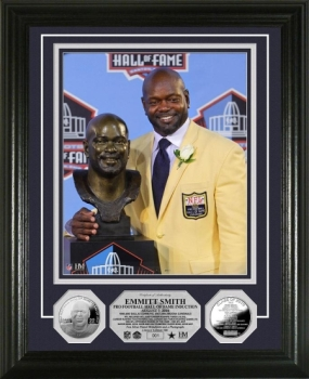 Emmitt Smith HOF Induction Ceremony Silver Coin Photo Mint