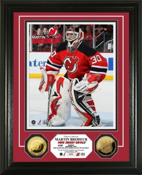 Martin Brodeur 24KT Gold Coin Photo Mint