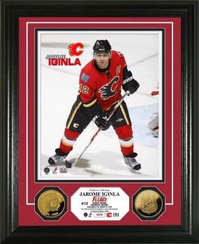 Jarome Iginla 24KT Gold Coin Photo Mint