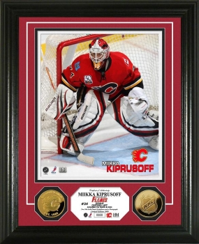 Mikka Kiprusoff 24KT Gold Coin Photo Mint