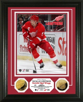 Nicklas Lidstrom 24KT Gold Coin Photo Mint