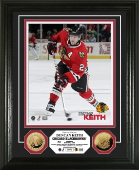 Duncan Keith 24KT Gold Coin Photo Mint