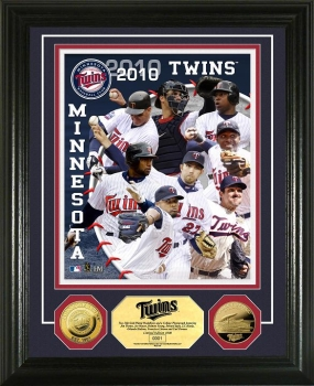 Minnesota Twins 2010 Team  24KT Gold Coin Photo Mint
