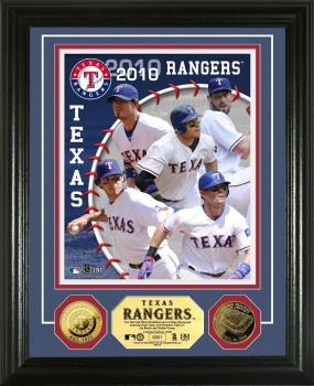 Texas Rangers 2010 Team 24KT Gold Coin Photo Mint