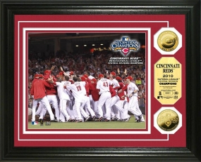 Cincinatti Reds 2010 NL Central Division Champs 24KT Gold Coin Photo Mint
