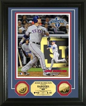 Texas Rangers 2010 ALCS MVP 24KT Gold Coin Photo Mint