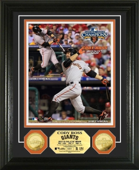 San Francisco Giants 2010 NLCS MVP 24KT Gold Coin Photo Mint